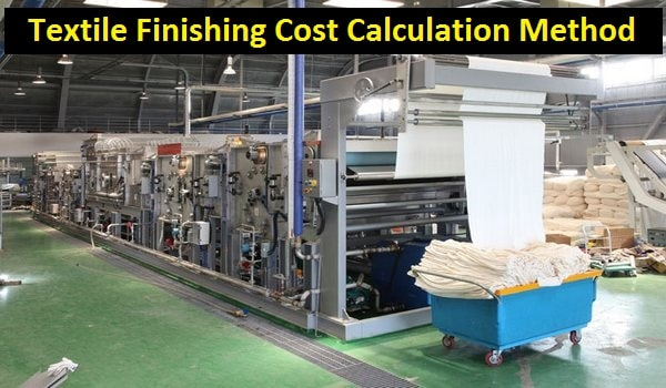 Textile finishing cost calculation method