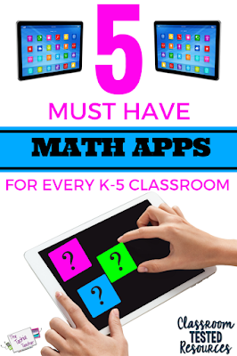 5 Must Have MATH iPad Apps for Every K-5 Classroom: Learn how to differentiate your math centers with these open ended apps for all levels of learners!