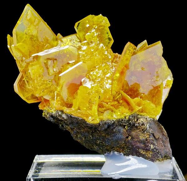 Orange and Translucent Wulfenite Crystals