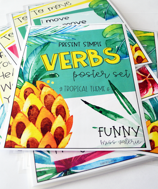 https://www.teacherspayteachers.com/Product/Verbs-Poster-Set-Tropical-Theme-Present-Simple-4026586