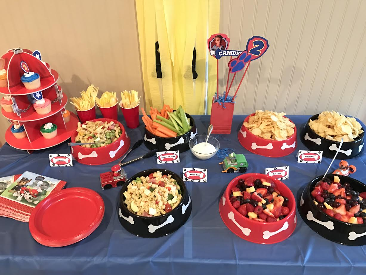Table Snack Cuisine Keep Calm And Carry On Paw Patrol Birthday Pawty
