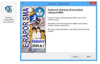 Cara Instal Aplikasi E Rapor SMA 2018 d.1