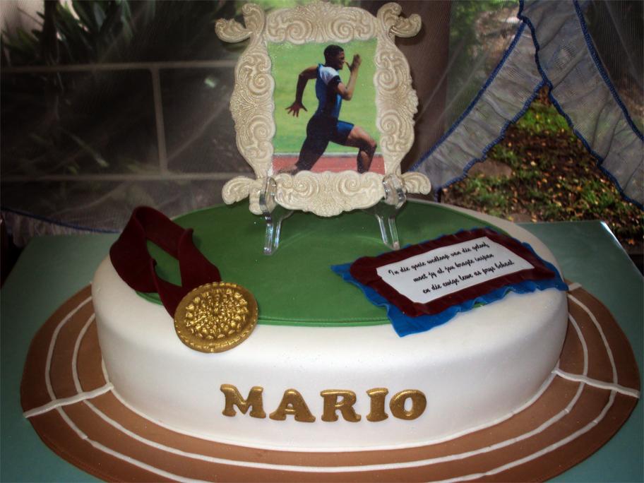 Delana S Cakes Athletics Track Cake
