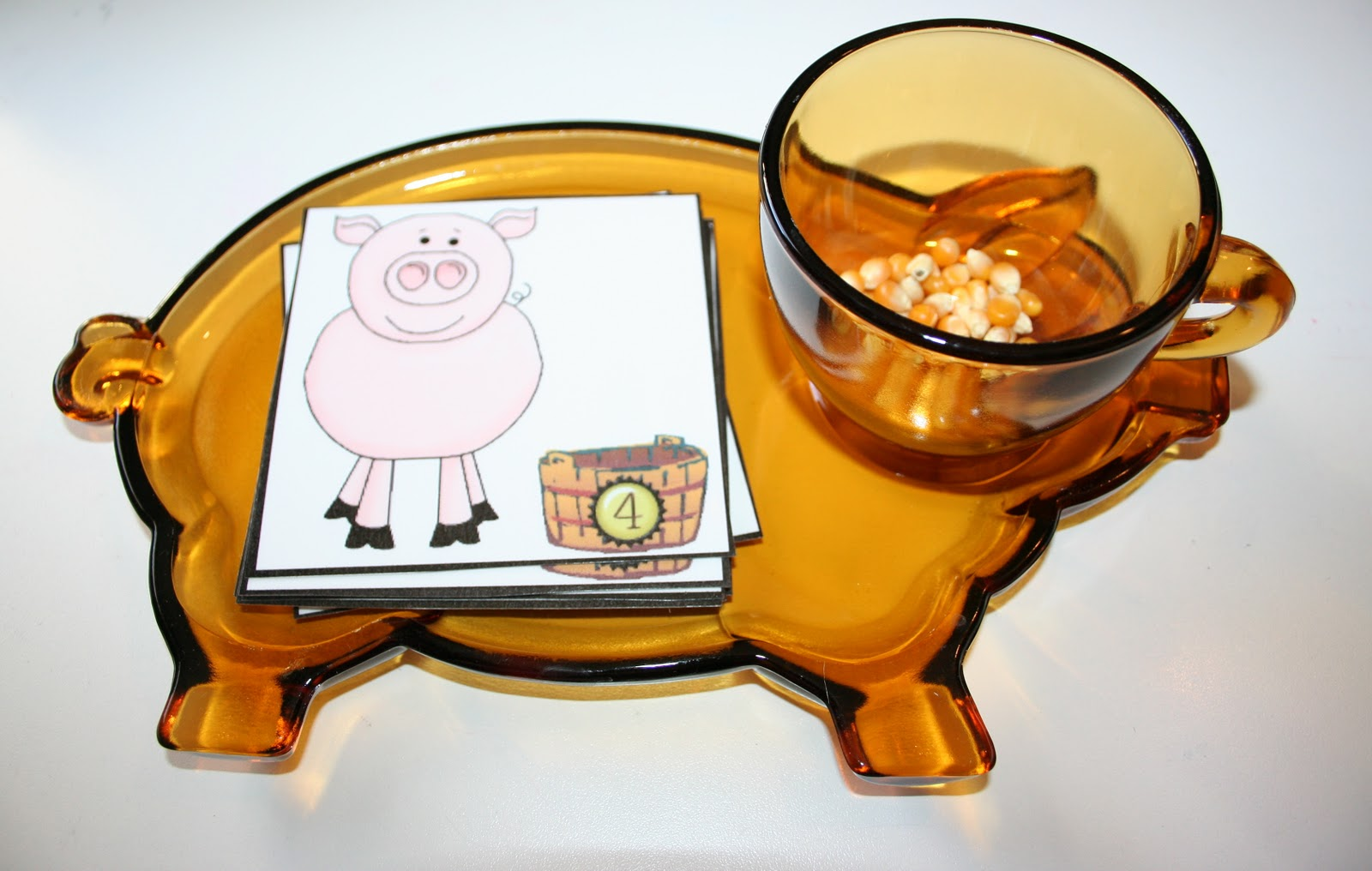 Pig and Corn Cards and Counters (Photo from Our Country Road)