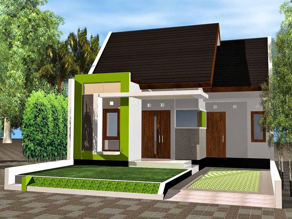 gambar denah rumah sangat sederhana 2