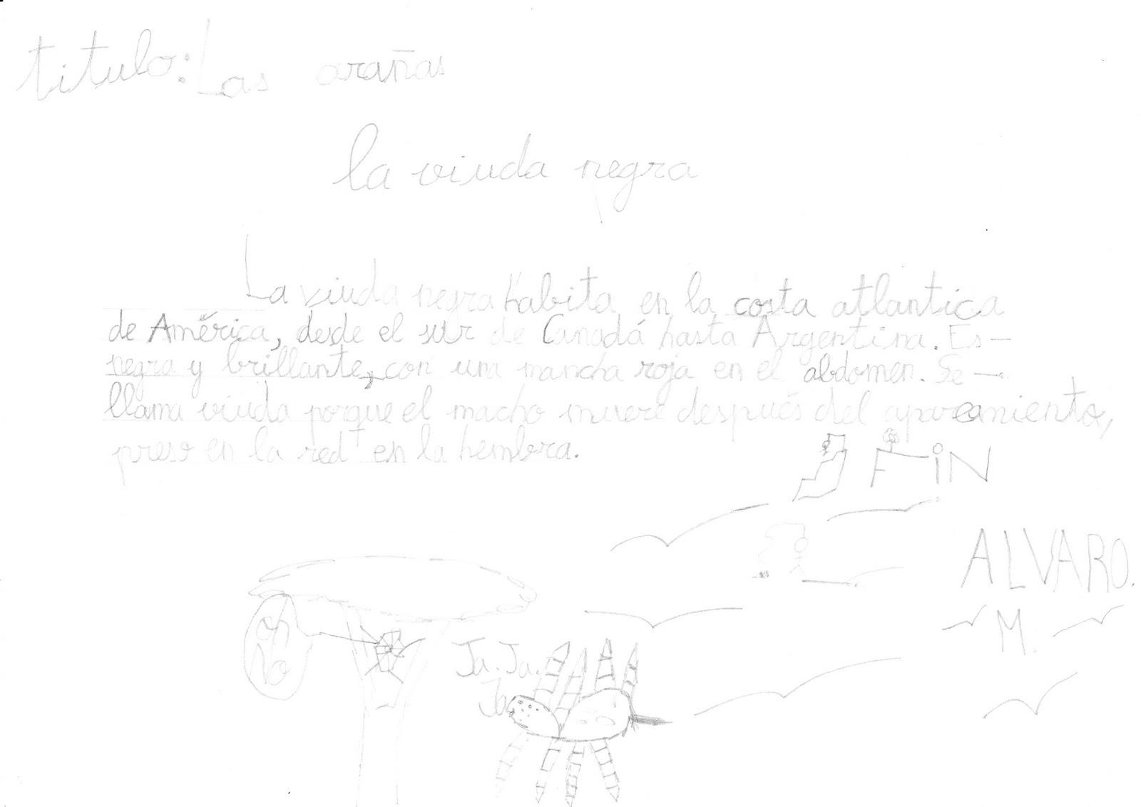 Ceip El Zargal Second Grade La Viuda Negra Alvaro M