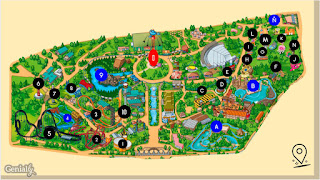 plano Parque Atracciones