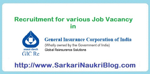 Naukri Vacancy Job Recruitment GIC