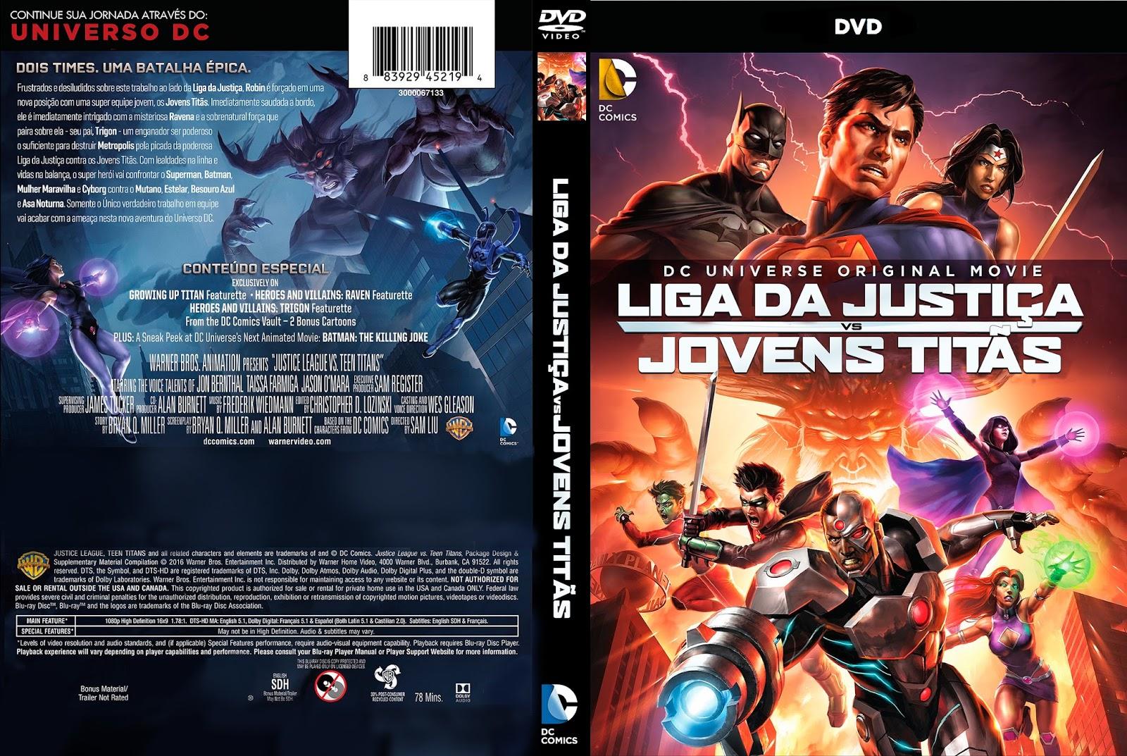 Animações: Marvel e DC Liga%2BDa%2BJusti%25C3%25A7a%2BVs%2BJovens%2BTit%25C3%25A3s.2