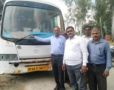 Bus Seized To Recover Govt Tax Uttar Pradesh