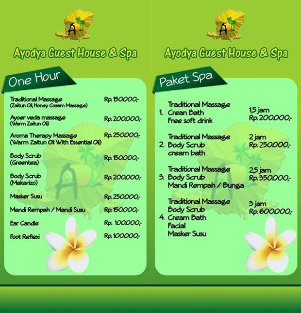 Treatment Spa di Ayodya Lombok