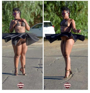 'Pantless Dancer' Zodwa Goes Underwear- Free In New Photo