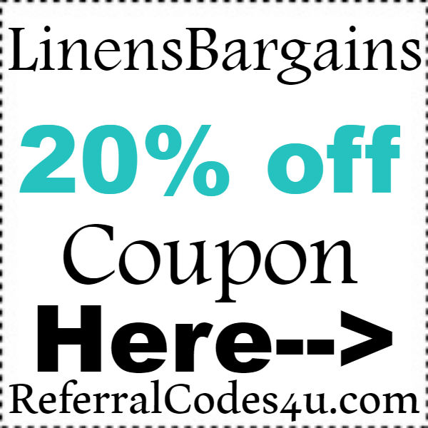 LinensBargains Discount Code 2016-2017, LinensBargains 20% off Coupon November, December, January