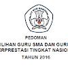 Pedoman/Juknis Pemilihan Guru SMA dan SMK Berprestasi Tingkat Nasional Tahun 2016