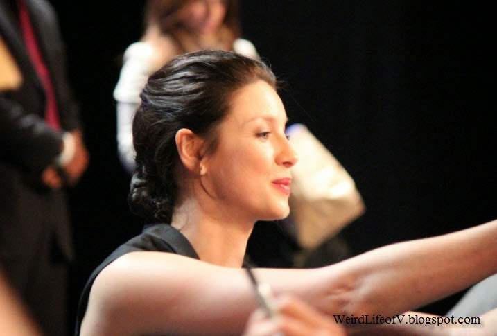 Caitriona Balfe signing autographs