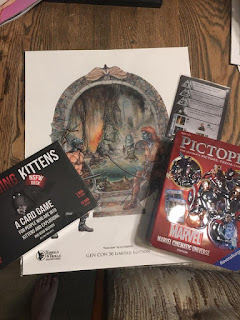 Exploding Kittens (NSFW Edition) and Pictopia The Marvel Cinematic Universe