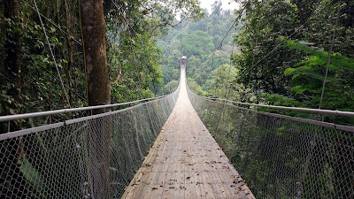 suspension bridge Situ Gunung sukabumi