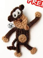 http://www.craftsy.com/pattern/crocheting/toy/monkey-appliquemagnet-crochet-pattern/160647