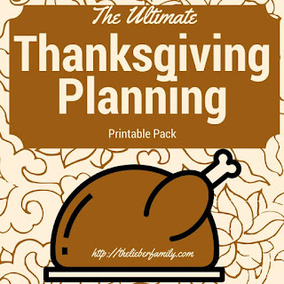 Blog With Friends, monthly project blog posts based on a theme. November theme is Thanksgiving Favorites | The Ultimate Thanksgiving Planning Printable Pack by Rabia of The Lieber Family Blog | Presented on www.BakingInATornado.com