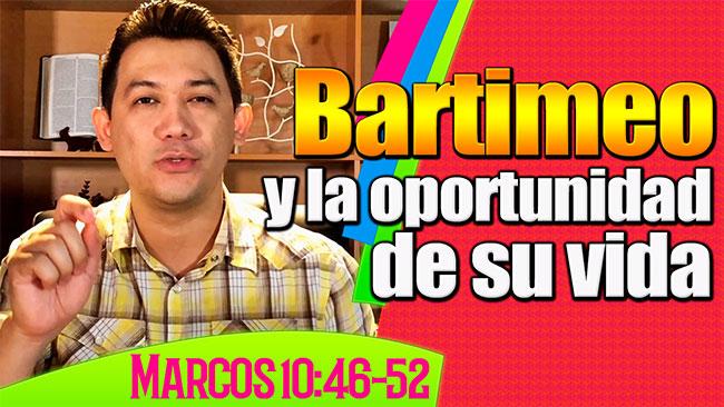 La oportunidad de Bartimeo