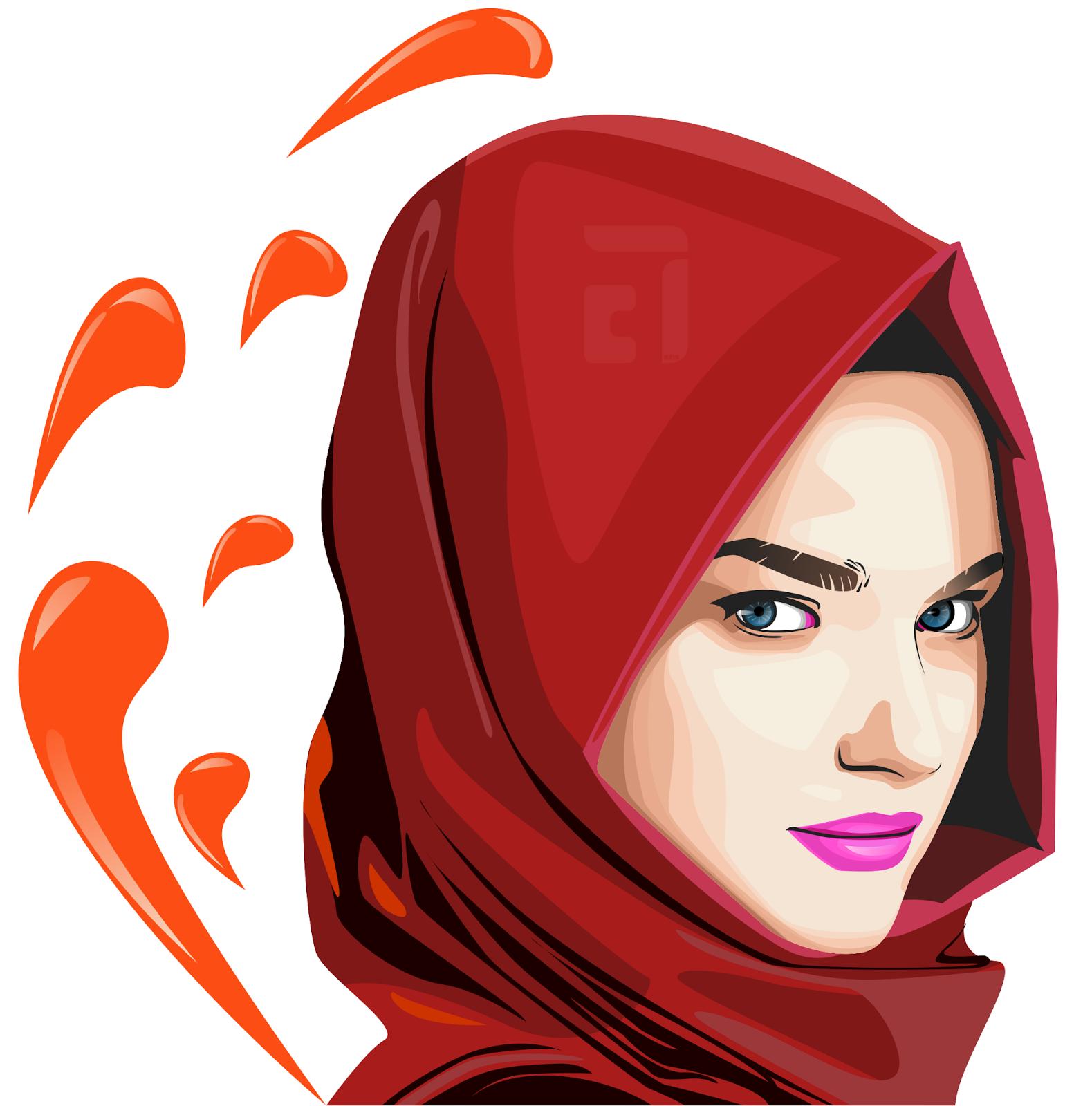 Wanita Hijab Vector Png Reihanhijab