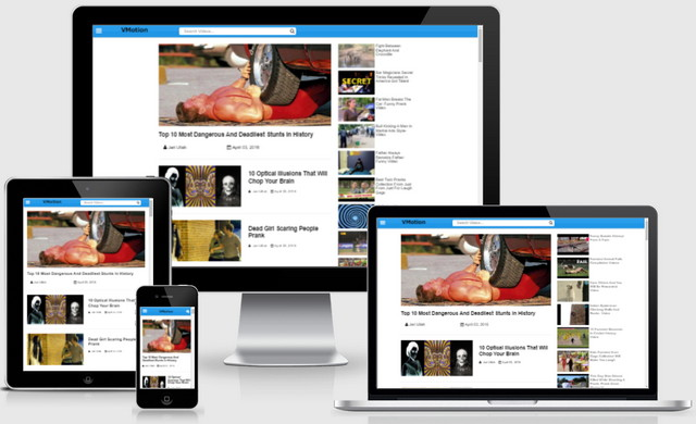 VMotion Video Responsive Blogger Templates