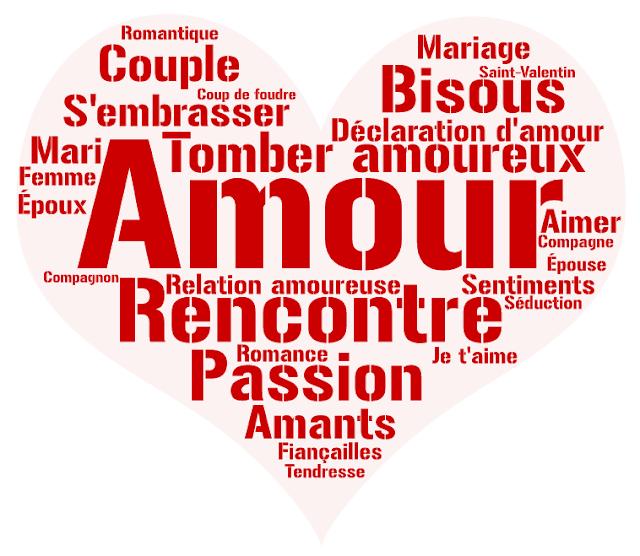 vocabulaire l'amour FLE, le FLE en un 'clic'