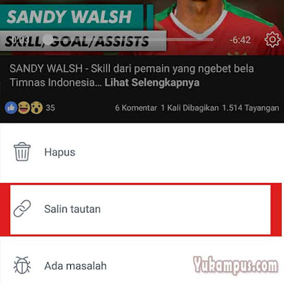 salin tautan video facebook android
