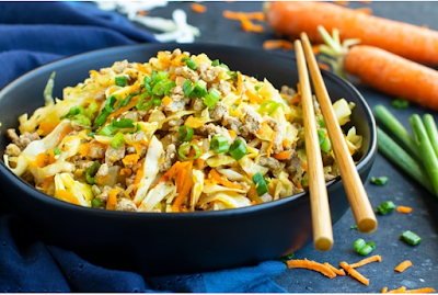 EGG ROLL IN A BOWL | PALEO  #food
