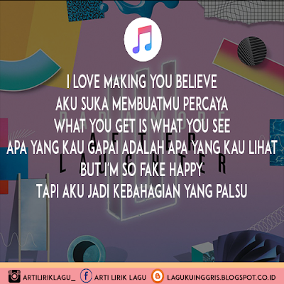 Arti Lirik Lagu Fake Happy - Paramore