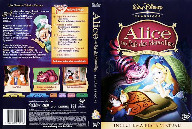 Capa DVD Alice no País das Maravilhas