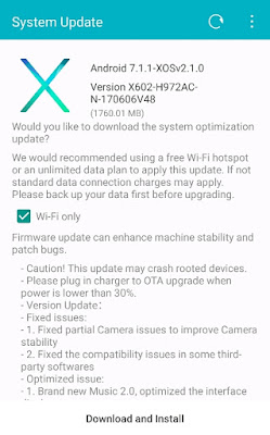 Update Infinix Zero plus (x602)