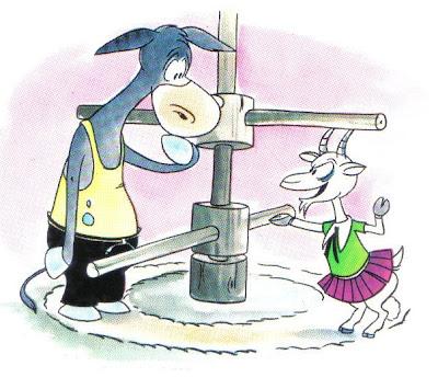 fabula corta la cabra y el asno
