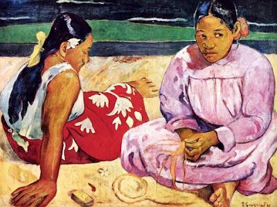 Foto a la pintura Mujeres Tahitiana en la Playa de Paul Gauguin