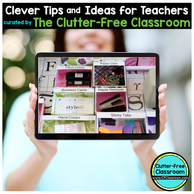 Does your teacher desk need organizing? Using small container can help you become a more organized teacher.