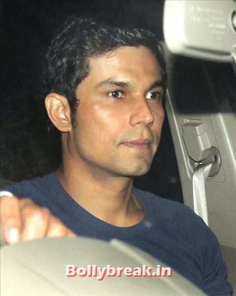 Randeep Hooda, who stars in Salman Khan's Kick, was also present for the bash, Salman Khan Birthday bash Pics
