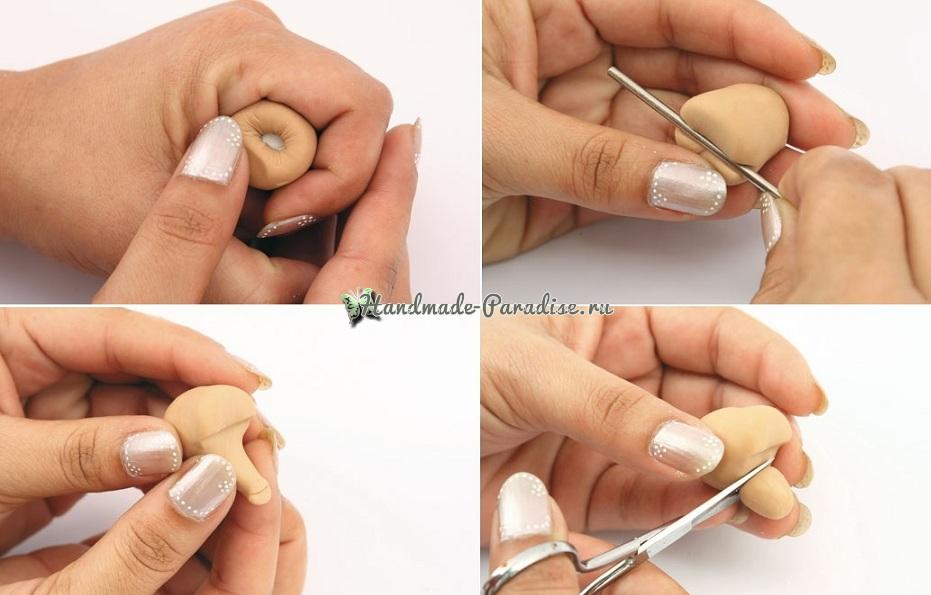 Лепка куколок-молодоженов из холодного фарфора (3)