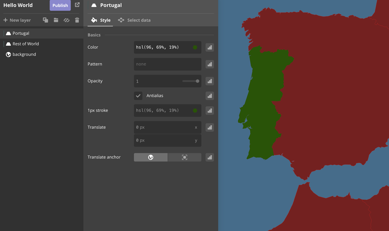 Pedro's Tech Mumblings: Playing with Mapbox Vector Tiles