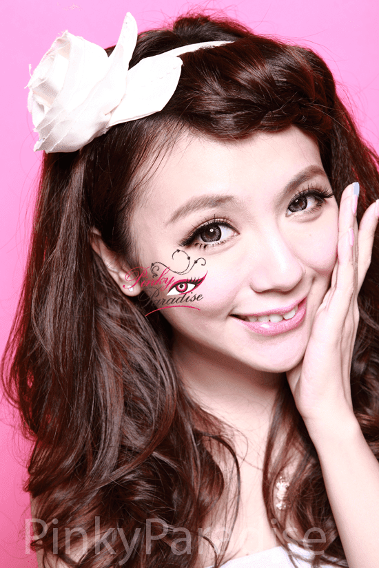 G&G Angel Ex Grey Circle Lenses (Colored Contacts) Model 2