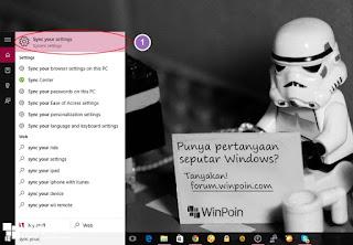 mematikan sinc setting di windows 10