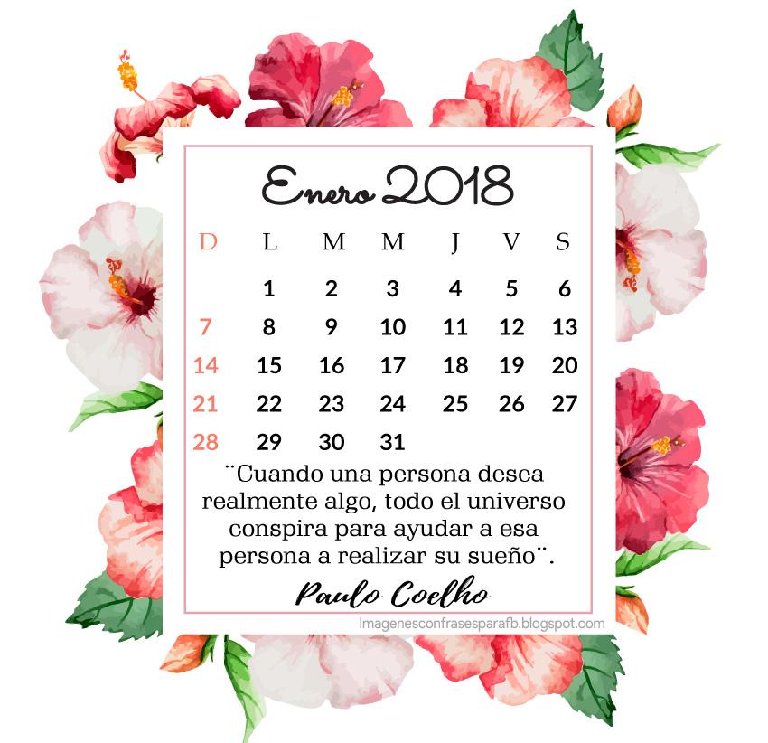Imagenes Bonitas Y Pensamientos Positivos Calendario Enero