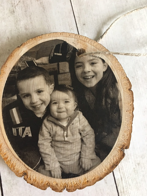 wood slice photos, wood photo transfer, silhouette studio, silhouette cameo