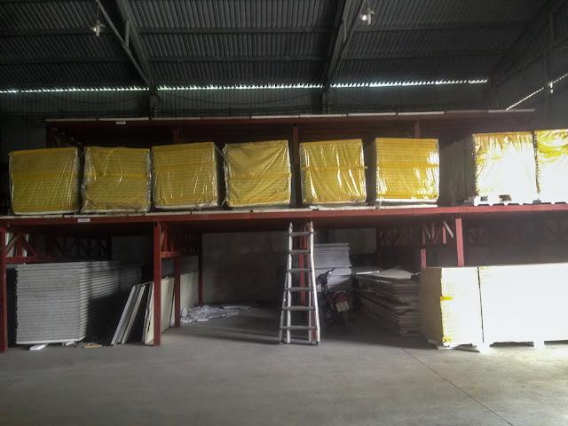 Glasswool panel tại công ty MTG