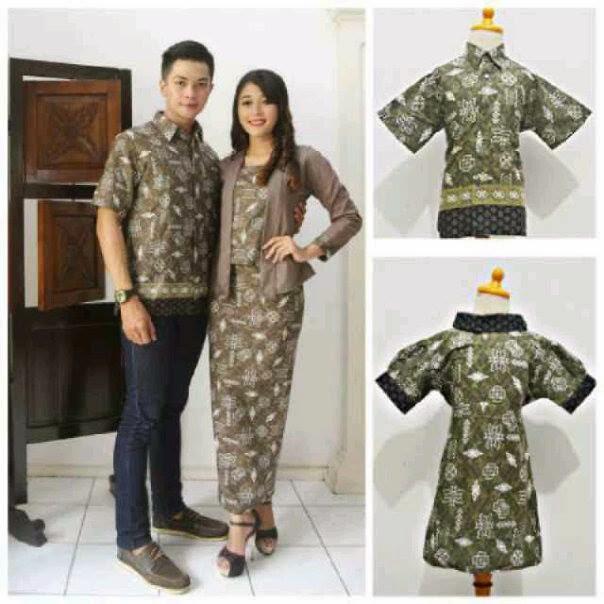 Model Seragam Baju Batik Pasangan Pria Wanita Terbaru