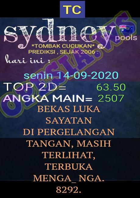 Kode syair Sydney Senin 14 September 2020 22