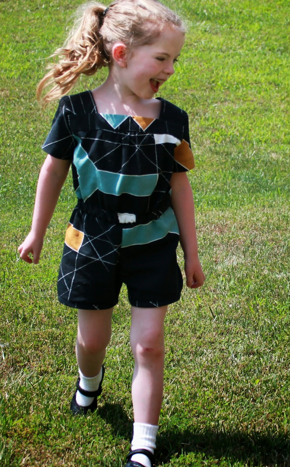Sewing an Oliver+S Croquet Dress Flipped (or rather made into a Mash-Up with Puppet Show Shorts) into a Romper | The Inspired Wren