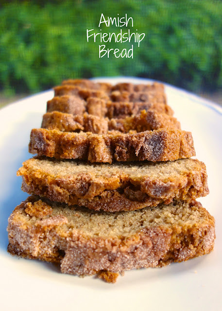 Amish Friendship Bread - AMAZING bread!!! It starts with a starter. You can get 10 loaves with one batch! Great for gift giving!!!! The starter freezes well. Yeast, water, flour sugar, milk, eggs, oil, cinnamon, vanilla, vanilla pudding, baking powder and baking soda. We LOVE this bread! #bread #dessert #amishfriendshipbread