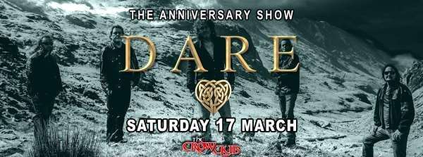 DARE: Οι τελευταίες πληροφορίες για το live στο The Crow Club το Σάββατο 17 Μαρτίου