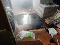 (ФОТО)В результате пожара на площади 30 кв. метров повреждены перекрытие и кровля жилого дома.