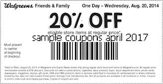 free Walgreens coupons april 2017